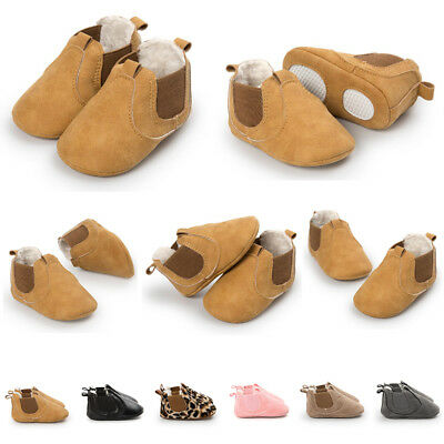 Newborn Fleece Shoes For Baby Girl Moccasins Anti-slip Boat Soft Sole Ankl Boots