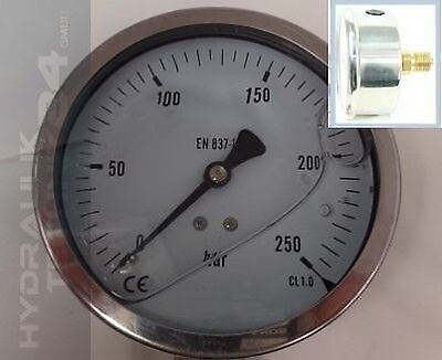 Hydraulic Manometer Glycerin Stainless Steel Eco-Line 0- 600 Bar