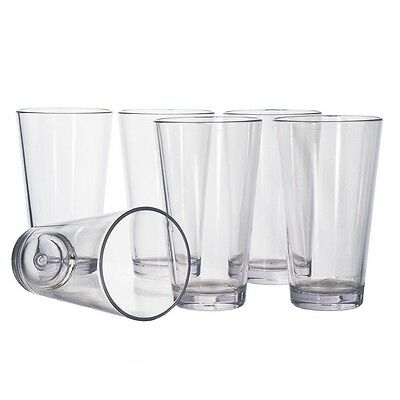 Premium Clear Transparent Plastic 300 ml Unbreakable Water Glass Tumbler Glasses