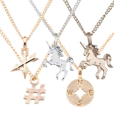 New Fashion Unicorn Pendants Rose Silver Chains Necklaces Jewelry Gift #