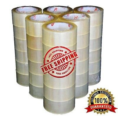 """36 Rolls Carton Box Sealing Packing Package Clear Tape 2 Mil 2""""x110 Yards 330 ft"""