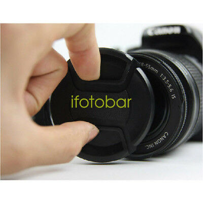 58mm Front Lens Cap Snap-on Cover fr Canon Nikon Sony Pentax Fuji Olympus Camera