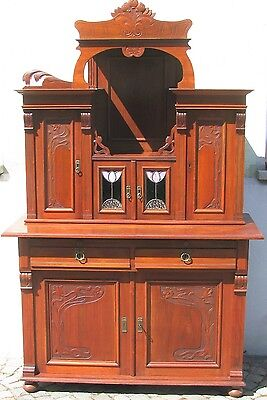 anrichte buffet sideboard kommode mahagoni jugendstil ca 1900 eur 899 00 picclick de. Black Bedroom Furniture Sets. Home Design Ideas