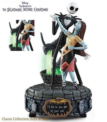 "Tim Burton's-Nightmare Before Christmas ""by Your Side""-Disney Music Box-New!"