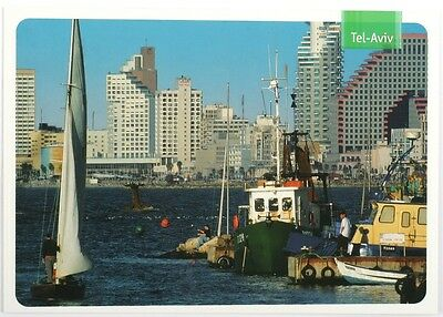 TEL AVIV POSTCARD Yacht Boat Marina - Israel Sea Shore Beach - TLV Vacation Tour