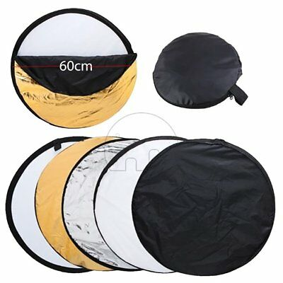 """60CM 24"""" 5-in-1 Photography Studio Multi Photo Disc Collapsible Light Reflector"""