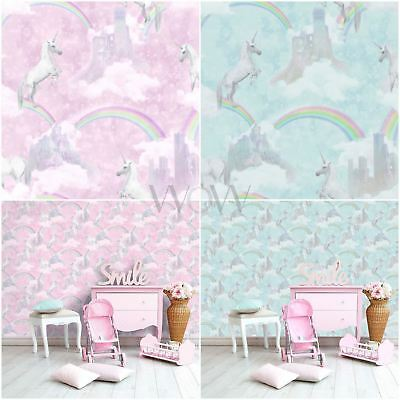 Holden I Believe In Unicorns Wallpaper - Pink Blue Girls Rainbow Glitter