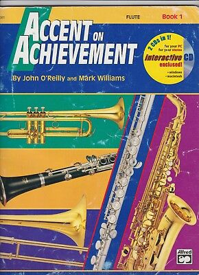 Flute Music-Accent On Achievement Book 1-fast postage