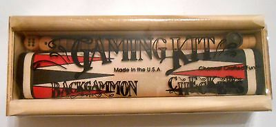 Channel Crafted Fun Gaming Kit Backgammon/checkers, Games, Usa, New With Seal!**