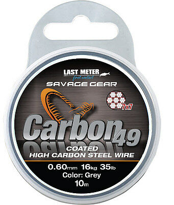 Savage Gear Carbon 49 10M Coil 7x7 Steel Compartment Coated High S Tee L Wire