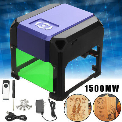 AU 1500mW USB Laser Engraver Printer Cutter Carver DIY Logo Engraving Machine