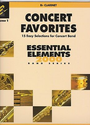Bb Clarinet Music-Essential Elements-Concert Favourites-Vol 1-fast postage