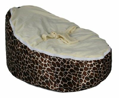 BayB Brand Baby Bean Bag - Giraffe - Filled & Ready To Use