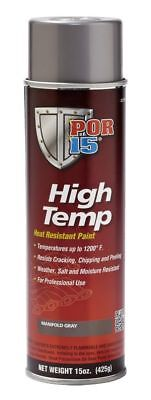 6 PACK of POR-15 44218 GRAY High Temperature Paint Manifold 15 fl oz AEROSOL