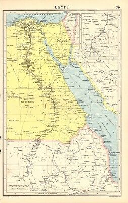 1930, ca, Vintage Map- Egypt