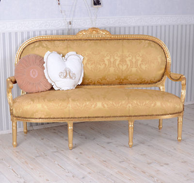 Sofa Baroque Style Rococo Style GOLD Bench Couch