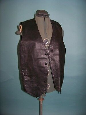 Wilsons Leather Mens Large Black Leather Vest
