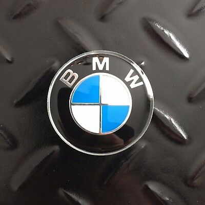 New - BMW™ White & Blue Steering Wheel Center Cap Emblem Badge Sticker Logo 45mm