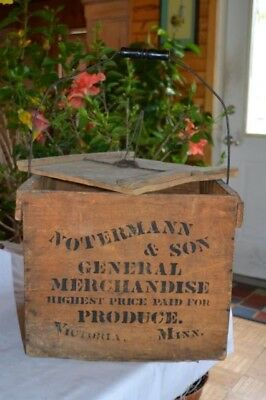 1800's Notermann Victoria Minn. Egg Crate