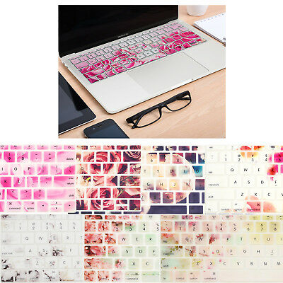 """New MacBook Pro 13"""" NO TOUCH BAR A1706&MacBook 12"""" A1534 Silicone Keyboard Cover"""