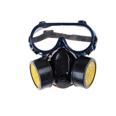 Emergency Survival Respiratory Gas Mask & 2 Dual Protection Filter&Glass HL