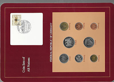 Coin sets of all nations Germany 1989-1990 UNC 1, 2, 5 Mark 1990 18.03.93
