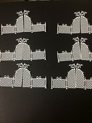 Gate 1 die cuts for cards or scrapbook 12 pieces