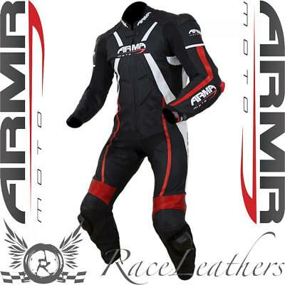 Armr Moto Harada R Black Red Leather One Piece Motorcycle Race Racing Suit