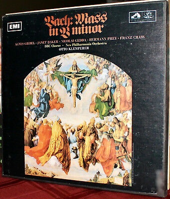 EMI 3-LPs SLS 930 / SAN 195-7: J.S. BACH - Mass in B Minor - KLEMPERER - 1968 UK