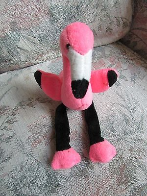 "Pink Plush Stuffins Flamingo with Black Legs, approx 9"" tall"