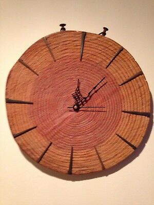 rustic large wooden wall clock