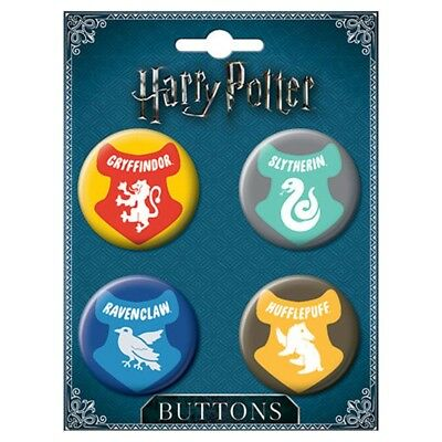 Harry Potter Charms House Crests Button Set