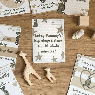 Alternative Baby Banter Milestone Cards Newborn Funny Memories