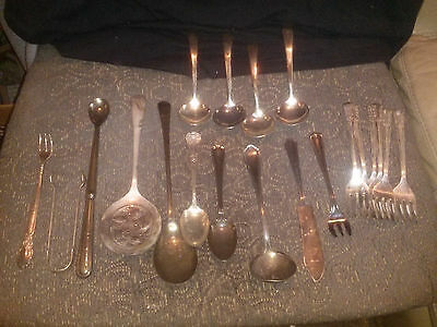 Vintage Lot Of 20 Pieces Of Silverware Various Makers And Countries