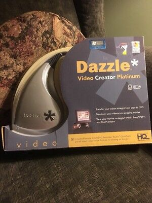 Dazzle Video Creator Platinum Transfer Video Movies From Tape To Dvd New!