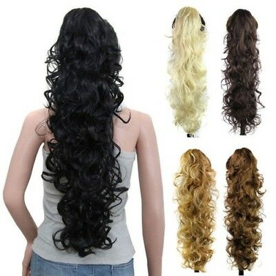 1x Kinky Curly Griffe En Postiche Queue De Cheval À Clip Extensions Cheveux 65cm