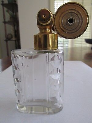 Vintage Marcel Franck France Travelling Atomizer Perfume Bottle and Leather Case