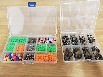 Sea Fishing Rig Set,Over 650 Pieces.Circle Hooks/Beads/Swivels/Crimps+Free Gift