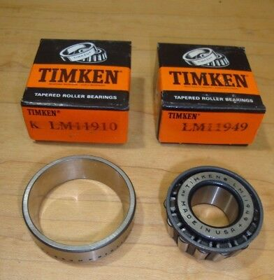 TIMKEN LM11949 Bearing Cone OR TIMKEN LM11910 Race Cup New Old Stock