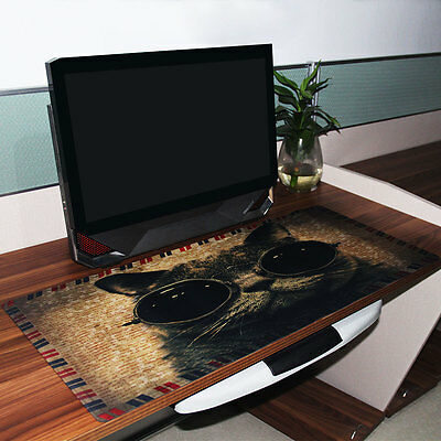 900x400mm Cool Cat Prints Extended Gaming Wide Large Mouse Pad Big Size Desk Mat