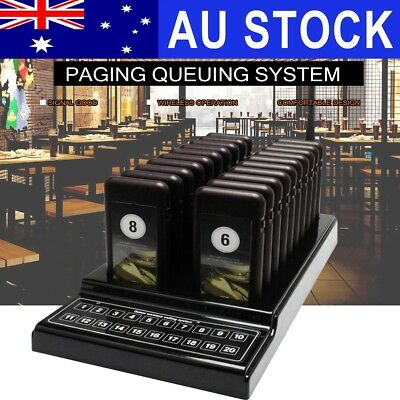 20x Restaurant Pagers Coaster Guest Call Wireless Paging Queuing Calling System