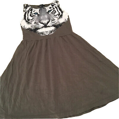 6a5c572b4bd FOREVER 21 WOMENS Dress Size S Olive Green Tiger BH -  22.05