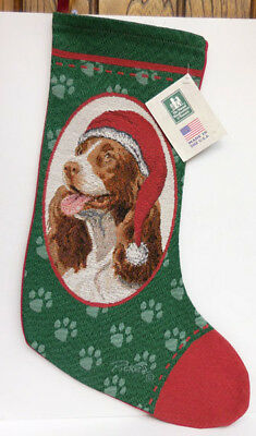 Springer Spaniel Christmas Stocking, Manual Woodworkers Item 33617