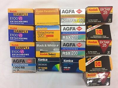 LOT Vintage Professional Kodak AGFA Konica  35mm Film EXPIRED NOS  Sealed