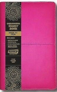 2018 Organiser Diary Planner - Ozcorp A6 (192x132mm) Week to View D346 Hot Pink