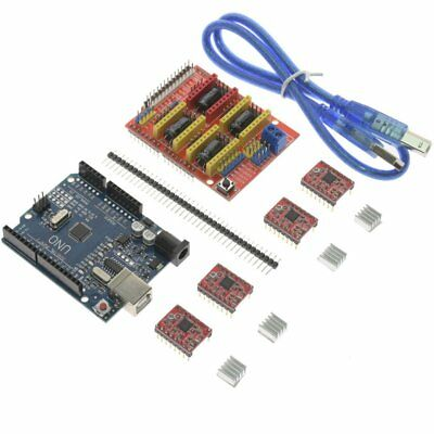 CNC Shield V3.0 + UNO R3 + 4pcs A4988 Driver /GRBL for Arduino 3D Printer