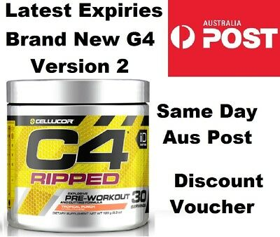 Cellucor C4 Ripped Tropical Punch 180g 30 Serve Pre Workout & Weight Loss