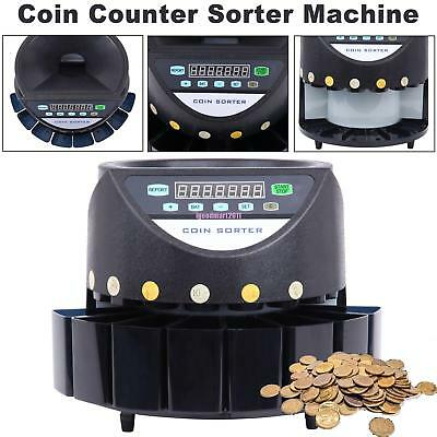 Automatic Coin Counter Money Sorter Electric Bank Cash Sorting Counting Machine