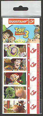 Belgium - Toy Story 3 Duostamp sealed stamp strip of 5. Unmounted mint.