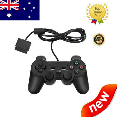 Wired Game Handle Controller Gamepad Joystick For Sony PS2 PlayStation2 Black AU